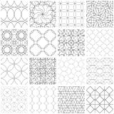 Set of 16 seamless geometric patterns. 16 Universal different seamless patterns, tiling. Endless texture can be used for wallpaper, pattern fills, web page vector illustration
