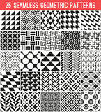 Universal different vector seamless patterns Royalty Free Stock Photo