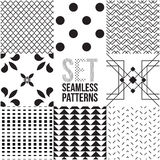 Universal different vector seamless patterns Stock Photo
