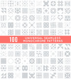 Universal different vector seamless patterns. 100 Universal different vector seamless patterns. Endless texture can be used for wallpaper, pattern fills, web Vector Illustration