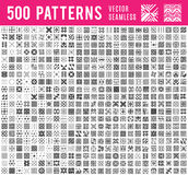 Universal different vector seamless patterns. 500 Universal different vector seamless patterns. Endless texture can be used for wallpaper, pattern fills, web Stock Photos