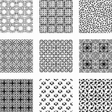 9 Universal different vector seamless patterns Royalty Free Stock Image