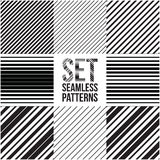 Universal different vector seamless patterns. lines ornament. Endless texture can be used for wallpaper, pattern fills, web page background,surface textures. Set Stock Photography