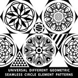Universal different vector seamless patterns. tiling. Endless texture can be used for wallpaper, pattern fills, web page backgroun. D,surface textures. Set of Stock Images