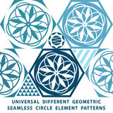 Universal different vector seamless patterns. tiling. Endless texture can be used for wallpaper, pattern fills, web page backgroun. D,surface textures. Set of Royalty Free Stock Photos