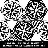 Universal different vector seamless patterns. tiling. Endless texture can be used for wallpaper, pattern fills, web page backgroun. D,surface textures. Set of royalty free illustration