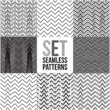 Universal different vector seamless patterns. Zigzag ornament. Endless texture can be used for wallpaper, pattern fills, web page background,surface textures stock illustration