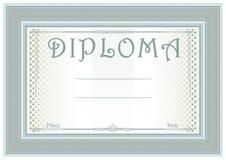 Universal diploma in sage-green Stock Photos