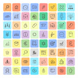 Universal Doodle Icons For Mobile and Web. Vector Collection Stock Photography