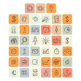 Universal Doodle Icons For Mobile and Web Royalty Free Stock Photo