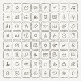 Universal Doodle Icons For Mobile and Web. Vector Collection Royalty Free Stock Photos