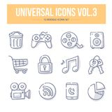 Universal Doodle Icons vol.3 Royalty Free Stock Photos