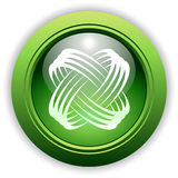 Universal Dynamic Button with Icon. Universal Dynamic Icon Button for Company, Service or Product stock illustration