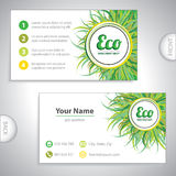 Universal eco green business card. Universal eco green whirlpool business card Royalty Free Stock Photography