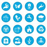 Universal ecology icon blue Stock Photos