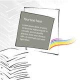 universal för tema för sida för kontor för designorientering stock illustrationer