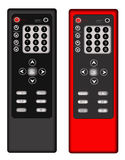 Universal-FernsehFernbedienungen Lizenzfreies Stockbild