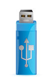 Universal flash drive usb. Illustration design over a white background Royalty Free Stock Image