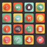 Universal Flat icon set for Web and Mobile App Royalty Free Stock Photos