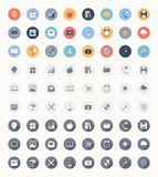 Universal flat icons Royalty Free Stock Photography