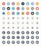 Universal flat icons Royalty Free Stock Images