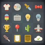 Universal Flat Icons For Web And Mobile Set 8 Royalty Free Stock Photography