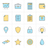 Universal flat icons Stock Images