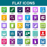 30 Universal Flat Icons. Vector Stock Images