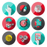 Universal Flat Icons for Web. Flat Icons with long shadow. For web and mobile applications and financial service, business Stock Image