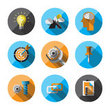Universal Flat Icons for Web. Flat Icons with long shadow. For web and mobile applications and financial service, business Stock Images