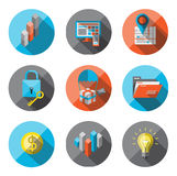 Universal Flat Icons for Web Royalty Free Stock Photo