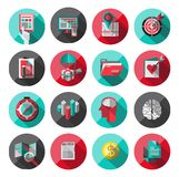 Universal Flat Icons for Web Stock Images
