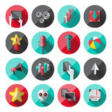 Universal Flat Icons for Web Stock Photography