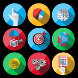 Universal Flat Icons for Web Royalty Free Stock Photography