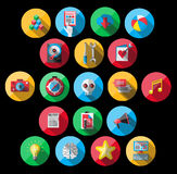 Universal Flat Icons for Web Stock Photo