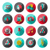 Universal Flat Icons for Web Royalty Free Stock Image