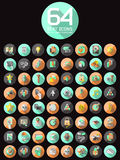 Universal Flat Icons for Web Royalty Free Stock Images
