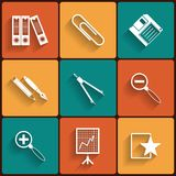 Universal Flat Icons Royalty Free Stock Photos