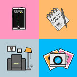 Universal Flat Icons for Web and Mobile Applications Royalty Free Stock Photos