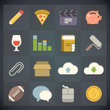 Universal Flat Icons for Web and Mobile Set 5 Stock Photos