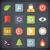 Universal Flat Icons for Web and Mobile Set 9 Royalty Free Stock Photography