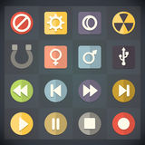 Universal Flat Icons for Web and Mobile Set 15 Stock Photography