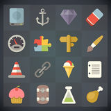 Universal Flat Icons for Web and Mobile Set 11 Royalty Free Stock Photo