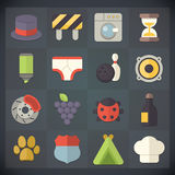 Universal Flat Icons for Web and Mobile Set 16 Royalty Free Stock Photos