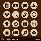 Universal Flat Icons. Stock Photography