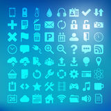 64 Universal Flat Vector Icon Set for web desighers, ui, sites, Stock Images