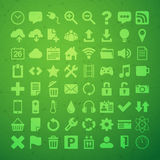 64 Universal Flat Vector Icon Set for web desighers, ui, sites, Stock Photography