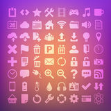 64 Universal Flat Vector Icon Set for web Royalty Free Stock Photography