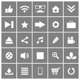 Universal Flat Vector Icons Set 1 Royalty Free Stock Photos