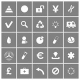 Universal Flat Vector Icons Set 3 Royalty Free Stock Photo